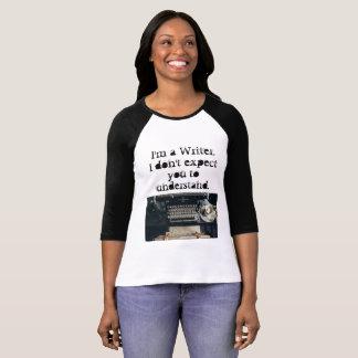 Camiseta T do escritor