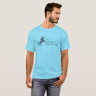 Camiseta T do estado de ânimo do unicórnio (adulto)