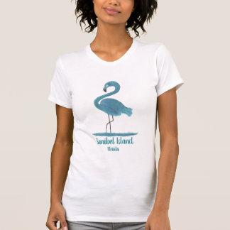 Camiseta T do flamingo de Sanibel Florida