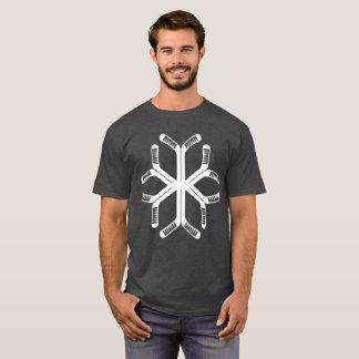 Camiseta T do floco de neve das varas de hóquei