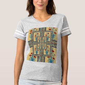 Camiseta T do fresco da flor do Mughal das mulheres