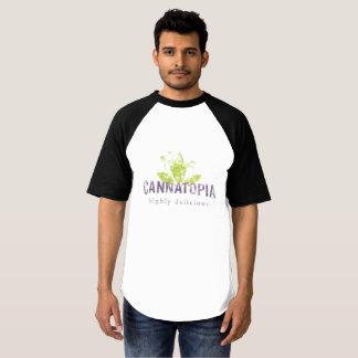 Camiseta T do fumo de Cannatopia do basebol do Raglan dos
