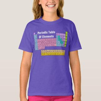 Camiseta T do gráfico do DIVERTIMENTO da mesa PERIÓDICA