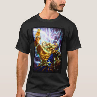 Camiseta T do gráfico do guerreiro de Zeus da fantasia do