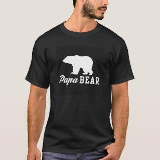 Camiseta T do gráfico do urso da papá