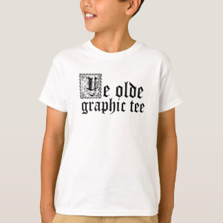 Camiseta T do gráfico do YE Olde