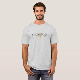 Camiseta T do hedonismo da cinza dos homens