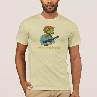 Camiseta T do herói do Ukulele de Gremmie - homens