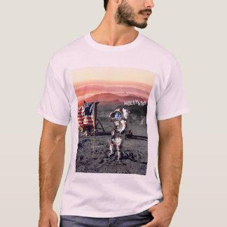 Camiseta T do homem da lua de Hollywood - luz - rosa
