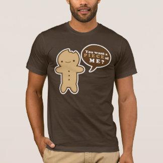 Camiseta T do homem de pão-de-espécie