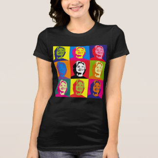 Camiseta T do jérsei de Hillary Clinton do pop art