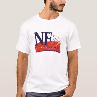 Camiseta T do logotipo da maratona do N-F