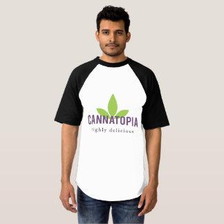 Camiseta T do logotipo de Cannatopia do basebol do Raglan