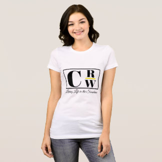 Camiseta T do logotipo de CRW