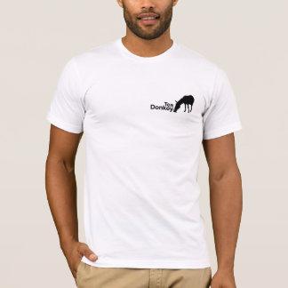 Camiseta T do logotipo do asno do chá