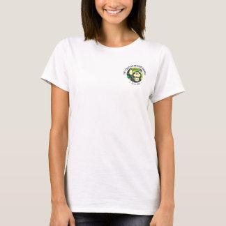 Camiseta T do logotipo do bolso das mulheres
