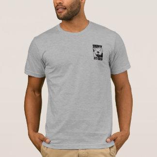 Camiseta T do logotipo do bolso dos homens do grupo de poço