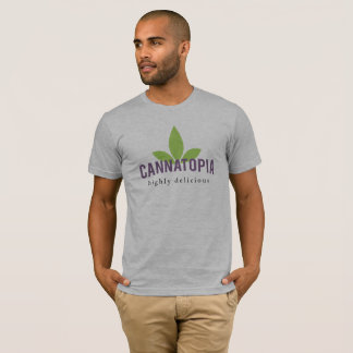 Camiseta T do logotipo do Cannatopia dos homens Relaxed