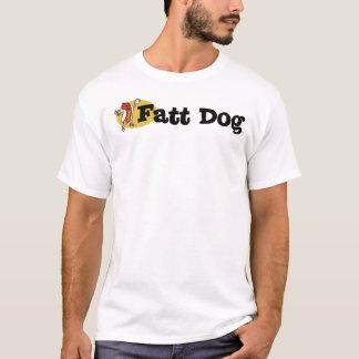 Camiseta T do logotipo do cão de Fatt (parte anterior