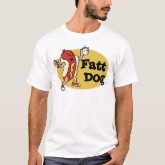 Camiseta T do logotipo do crachá do cão de Fatt (parte