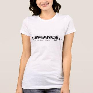 Camiseta T do logotipo dos estúdios do desafio das mulheres