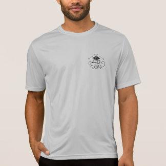 Camiseta T do logotipo dos homens as primeiras 40 milhas