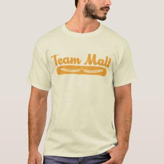 Camiseta T do malte da equipe