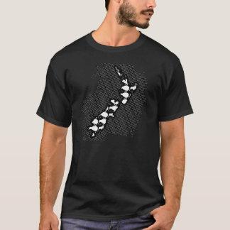 Camiseta T do mapa de Nova Zelândia do quivi
