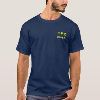 Camiseta T do marinho do departamento da polícia de Pardise