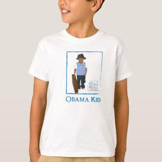 Camiseta T do menino de obama