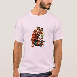 Camiseta T do monstro de flower power