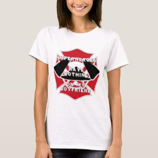 Camiseta T do namorado do sapador-bombeiro