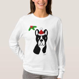Camiseta T do Natal de Boston Terrier