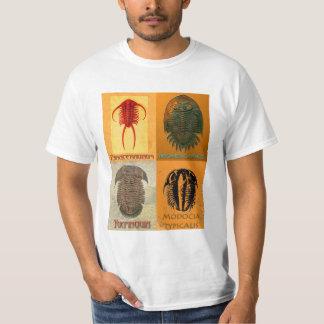 Camiseta T do negócio do montagem de Trilobite de quatro