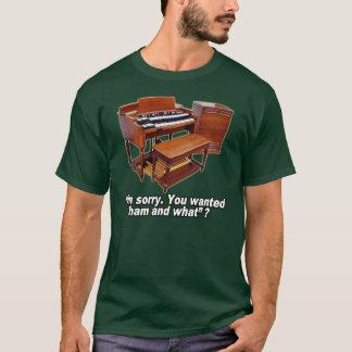 Camiseta T do órgão e da Leslie de Hammond