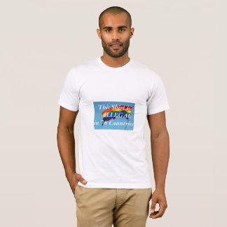 Camiseta T do orgulho de LGBT