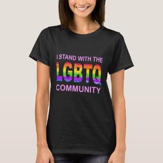 Camiseta T do orgulho do arco-íris de LGBTQ