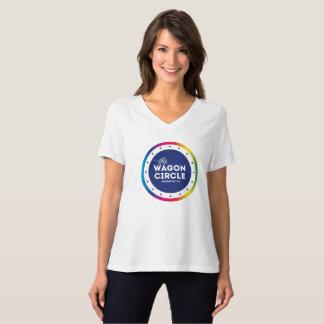 Camiseta T do orgulho do V-Pescoço das mulheres
