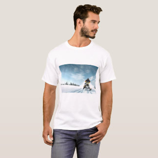 Camiseta T do país das maravilhas do inverno