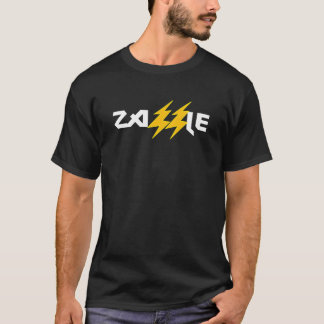 Camiseta T do parafuso de relâmpago da rocha de Zazzle