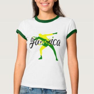 Camiseta T do parafuso do Jamaica das mulheres