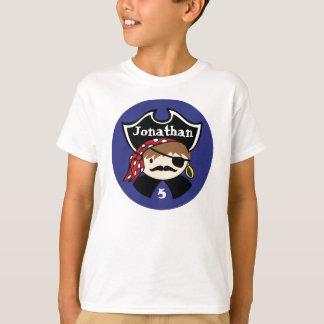 Camiseta T do partido do pirata