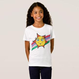 Camiseta T do pescoço de grupo da menina do CAT & do