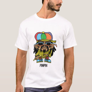 Camiseta T do pimpin do rasta