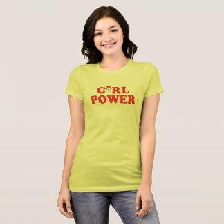 Camiseta T do poder da menina
