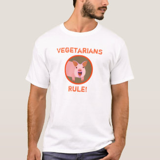 Camiseta T do porco do vegetariano