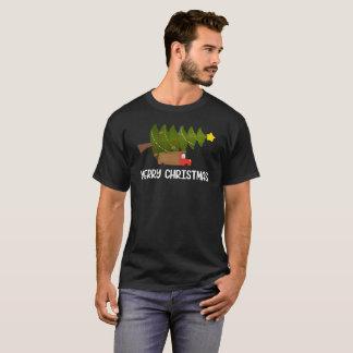 Camiseta T do presente da árvore 01 do caminhão