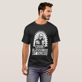 Camiseta T do presente da comida das calorias das bênçãos