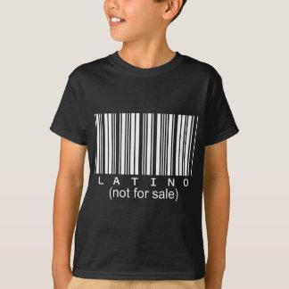 Camiseta T do preto do código de barras do Latino