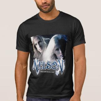 Camiseta T do preto do vintage de NELSON - homens